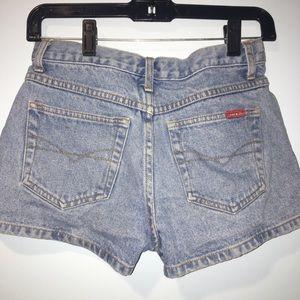 Vintage Shorts - VINTAGE high waisted jean shorts
